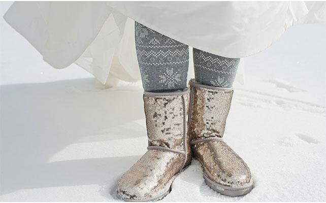 Теплая обувь для невесты на зимней свадьбы