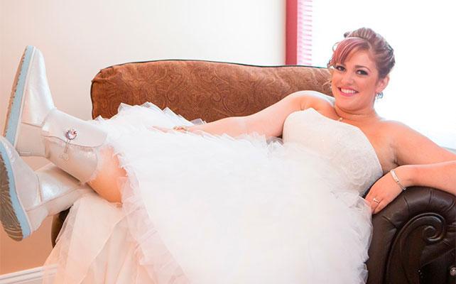 Ботильоны для невесты на зимней свадьбы
