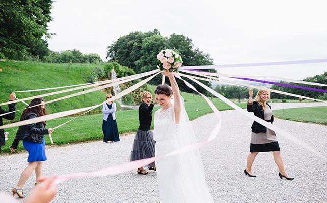 Букет невесты с лентами своими руками