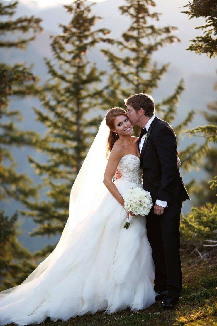 свадебные фото в лесу