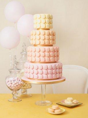 Свадебный торт из макарунов