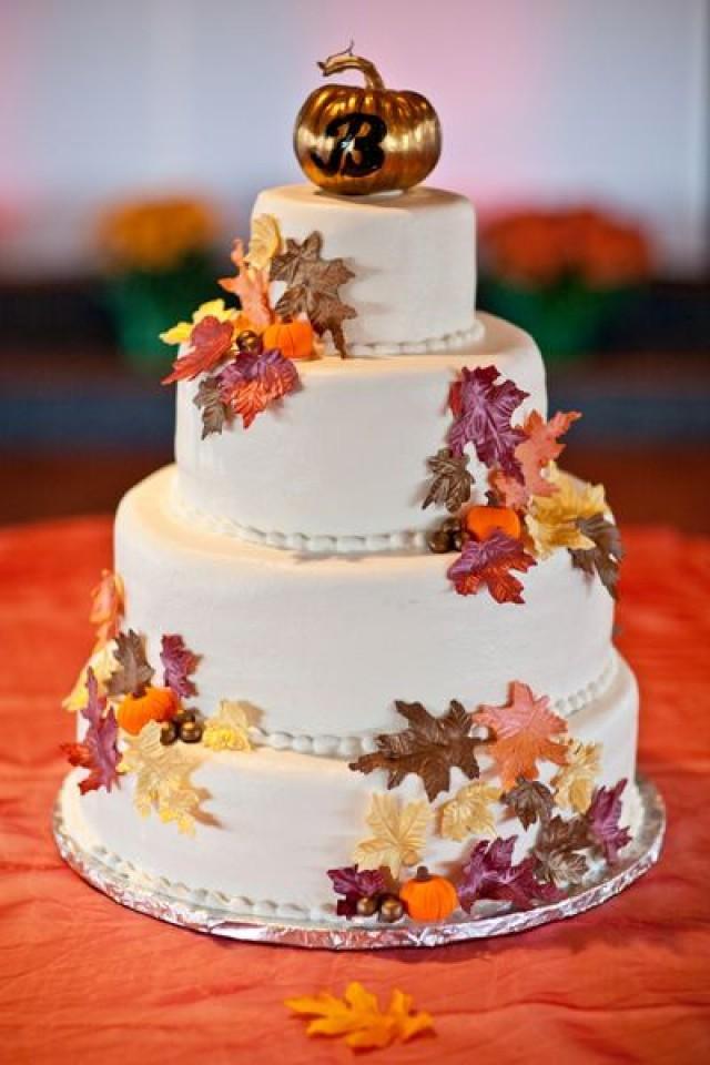свадебный осенний торт фото
