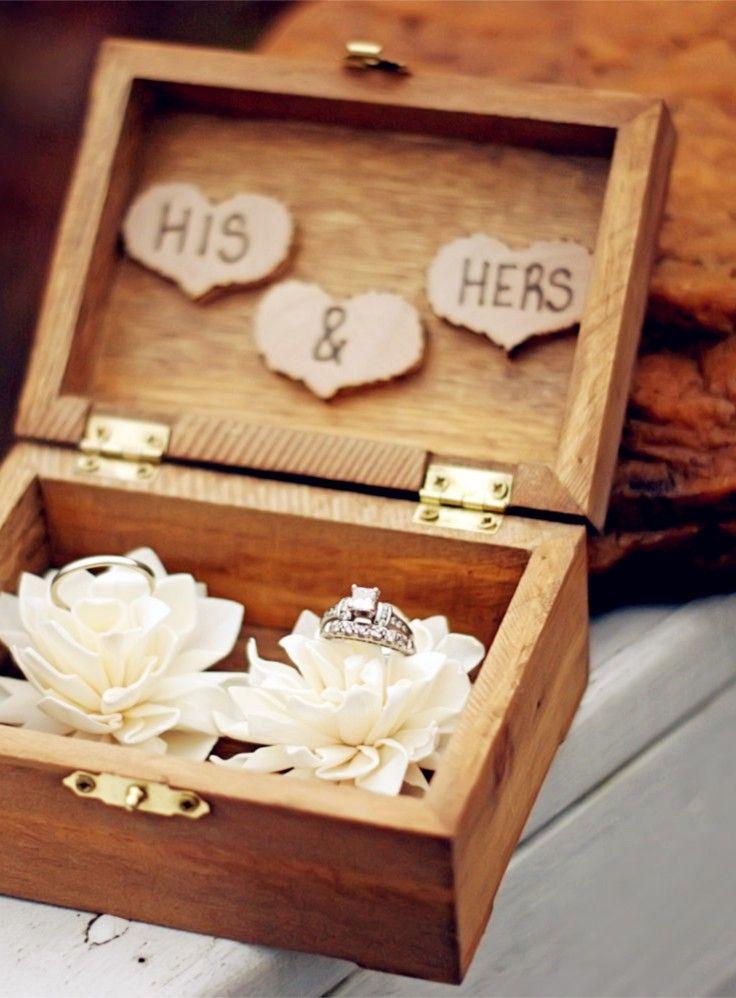 Коробка для колец на свадьбу