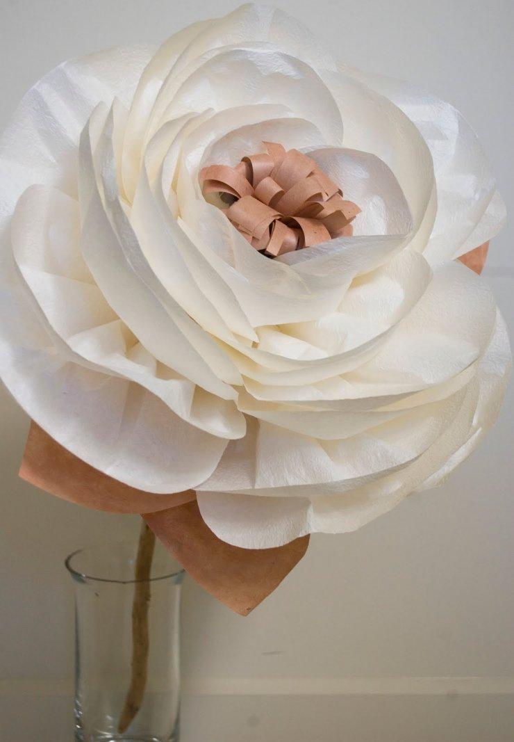 Бумажные цветы свадебные