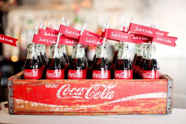 Coke bottles for wedding