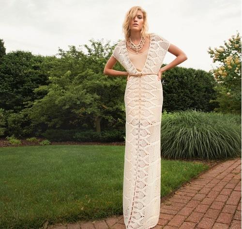 Фото платье длинное вязаное крючком