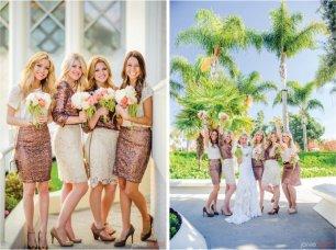 Золотистое платье подружки невесты