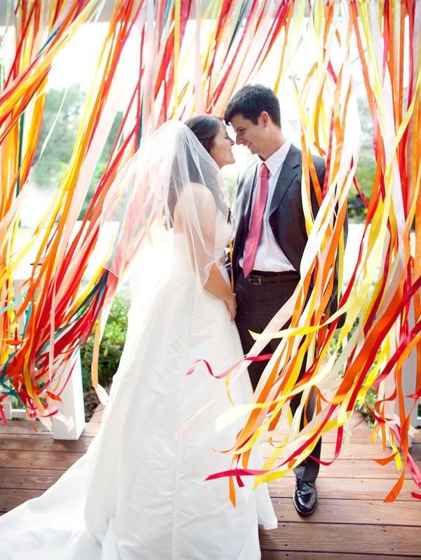 Декор из лент на свадьбу