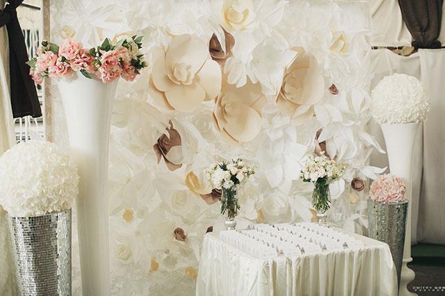 Белоснежная свадьба декор места