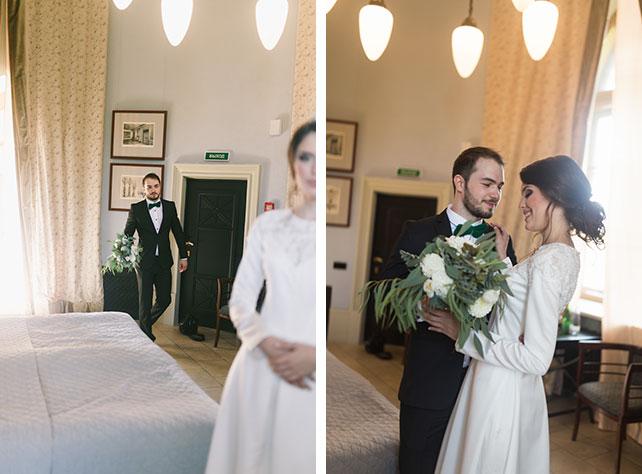 Изумрудно белая свадьба фото