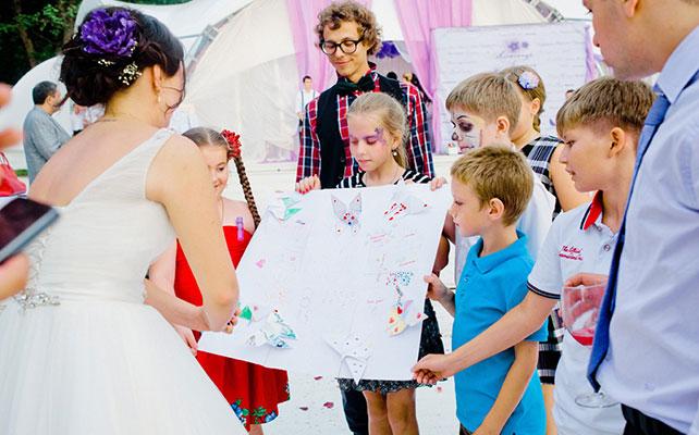 Свадебная фотосессия, Доска для рисования гостей