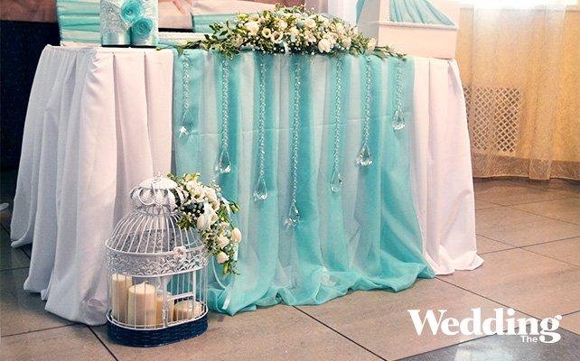Фото оформления свадьбы в мятном цвете