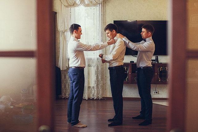 свадьба в пастельных тонах, утро жениха