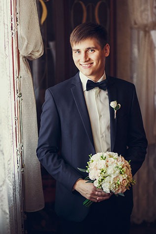 свадьба в пастельных тонах, образ жениха