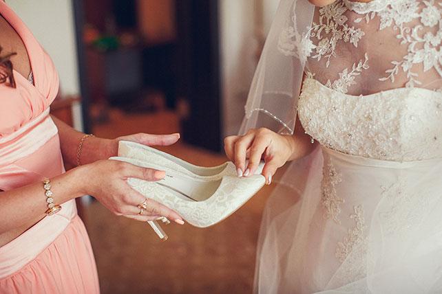 свадьба в пастельных тонах, туфли невесты