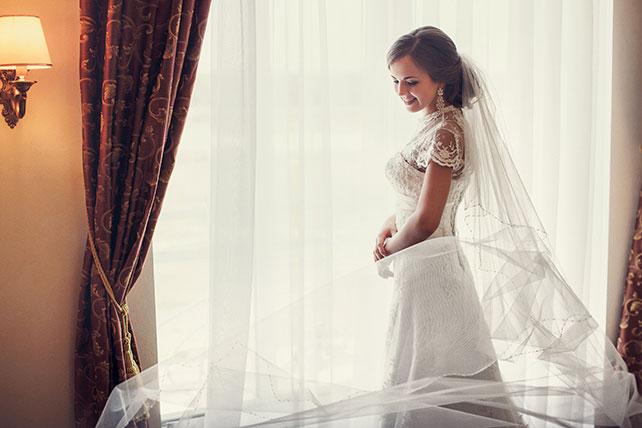 свадьба в пастельных тонах, образ невесты