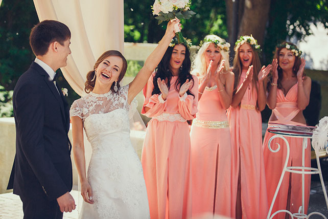 свадьба в пастельных тонах, церемония