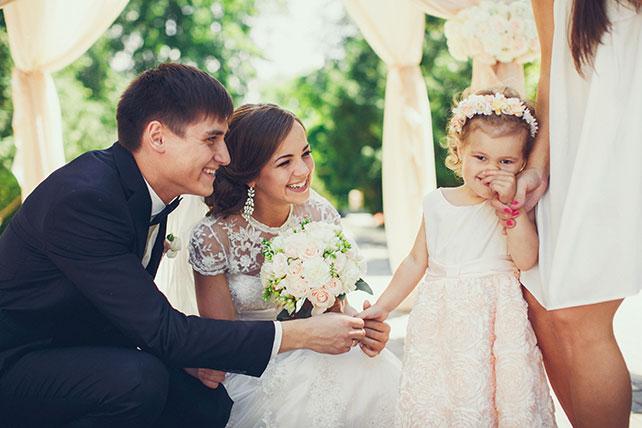 свадьба в пастельных тонах, цветочная девочка