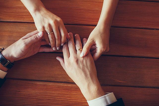 свадьба в пастельных тонах, кольца