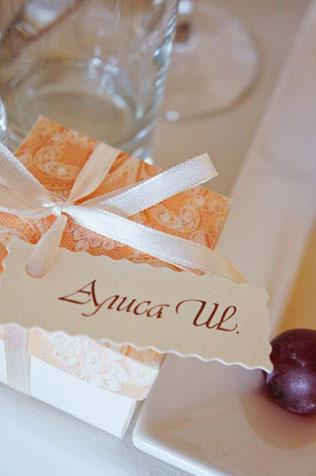 свадьба в пастельных тонах, бонбоньерки в коробочках