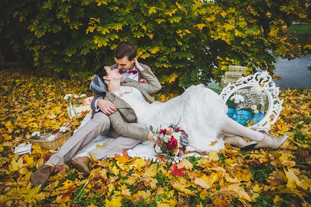 Осенняя поляна фото