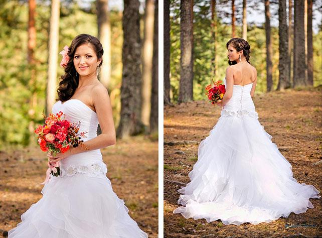 Красно белая свадьба платья