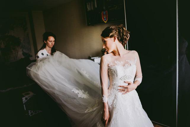 Средиземноморский рустик, фата невесты