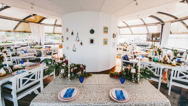 Средиземноморский рустик, декор стола молодоженов
