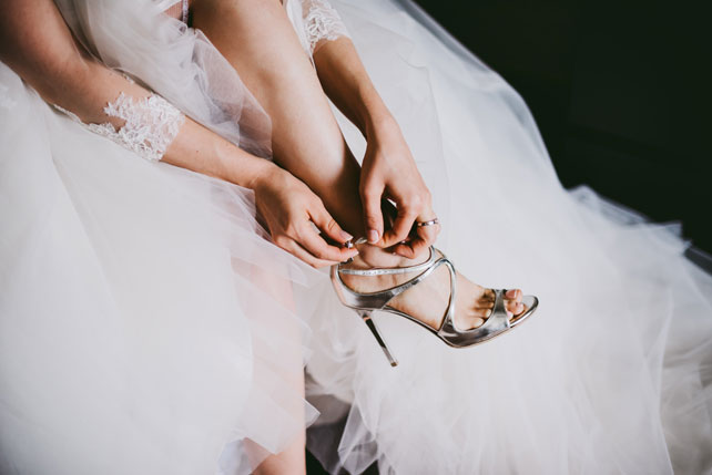 Средиземноморский рустик, туфли невесты