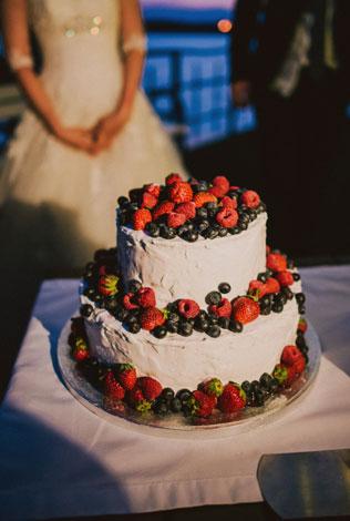 Средиземноморский рустик, свадебный торт