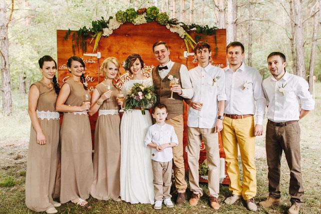 Рустикальный стиль свадьбы фото