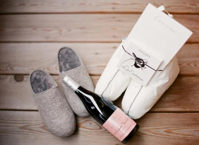 Тапочки и вино