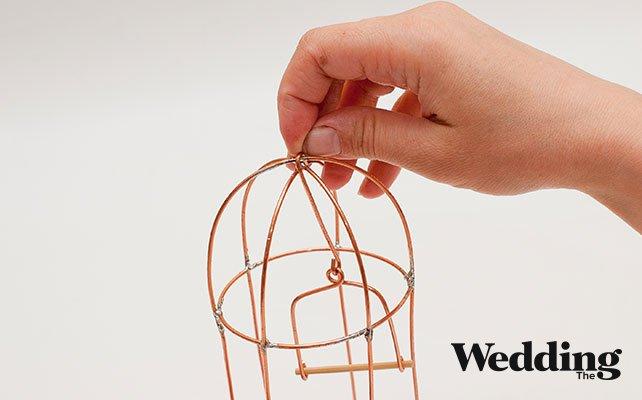 Как своими руками сделать винтажную клетку для декора свадьбы, сделать подвес для жёрдочки