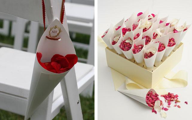 кулек для лепестков роз