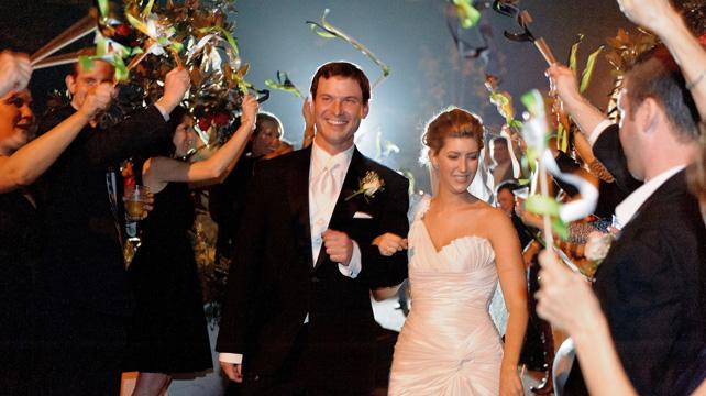 свадебные ленты на палочке