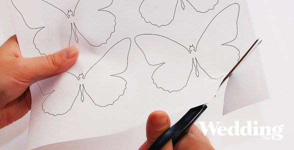 шаблон для украшения бабочки: