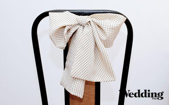 Как сделать красивый бант для декора стула, бант на стуле