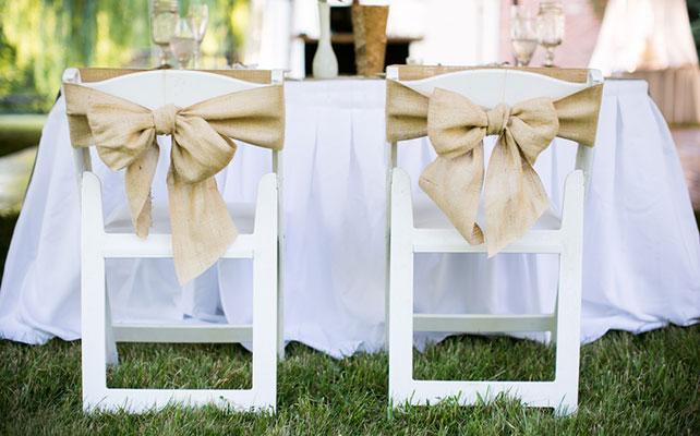 Как сделать красивый бант для декора стула, декор стульев бантами