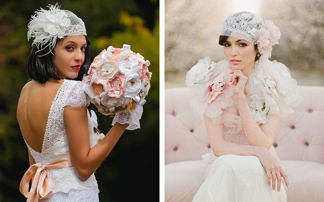 Цветы в голову невесте своими руками