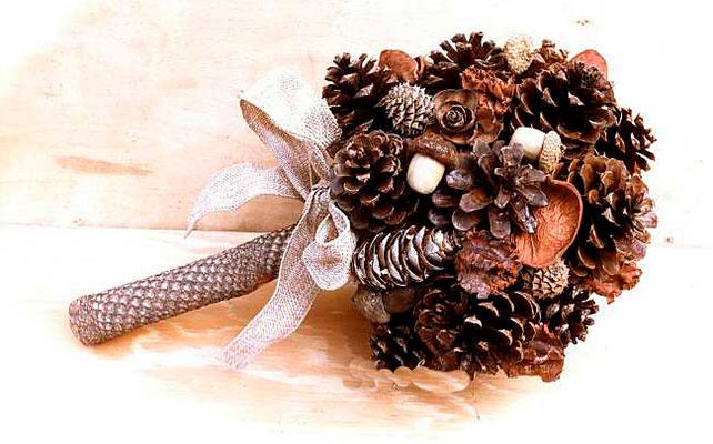 Фото зимний букет своими руками из природного материала