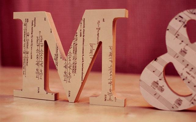 как сделать объемные буквы из