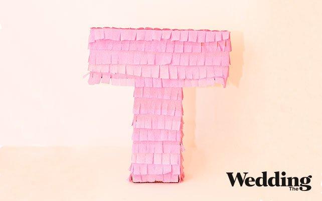 объемная буква из картона на свадьбу