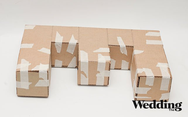Буквы из коробок своими руками 160