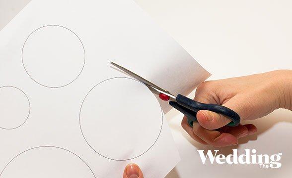 как изготовить гирлянду из кружков
