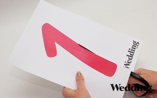 распечатать и вырезать шаблоны, Как сделать гирлянду с датой вашей свадьбы