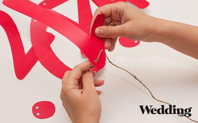 цифры собрать на бечёвку, Как сделать гирлянду с датой вашей свадьбы