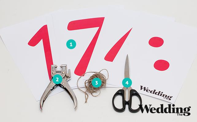материалы для изготовления гирлянды, Как сделать гирлянду с датой вашей свадьбы
