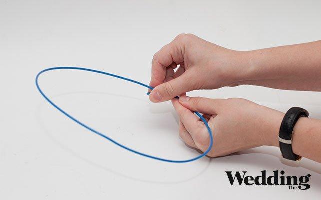 как сделать люстру из бусин своими руками, сделать окружность из проволоки