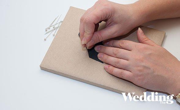 номер для стола в технике стринг арт