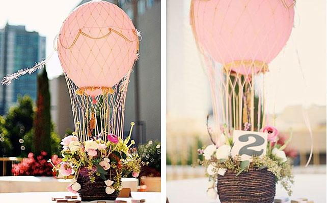 как сделать номер стола, закреплённый на воздушном шаре